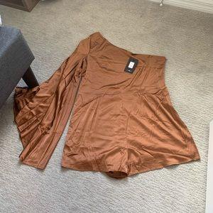 Fashion Nova Silk Romper *NWT*